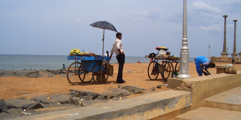 Plaja in Pondicherry