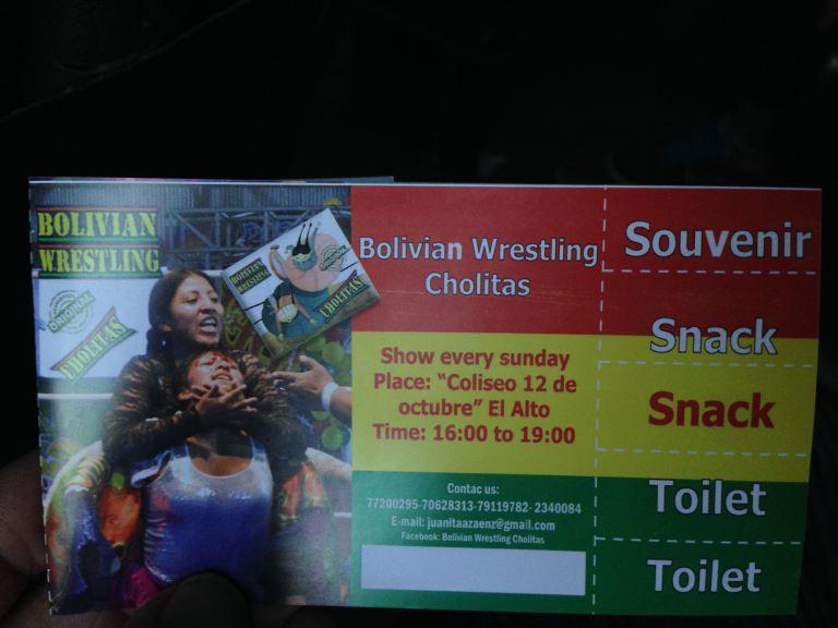 Cholitas wrestling ticket