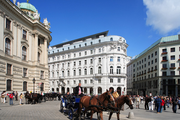 Austria, Vienna, Michaelerplatz, Horse & Carriage
