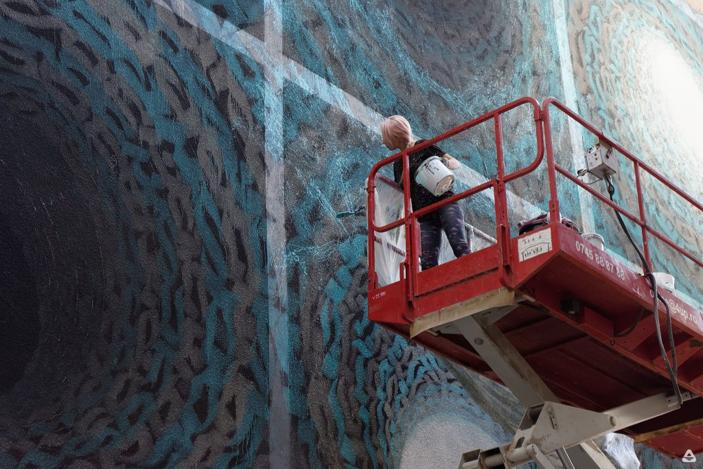 Un-hidden Bucharest street art intervention iZZY iZVNE day 6 1